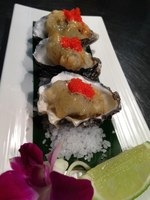 Crispy oysters & coconut jelly