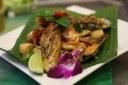 Mussels & green prawns stirfry